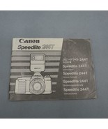 Vintage Canon Speedlite 244T Flash Instruction Manual - $29.33