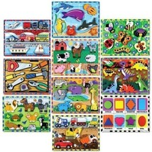 Melissa & Doug Set of 10 Wooden Chunky Puzzles - $148.45