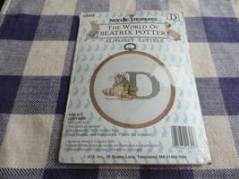 "Needle Treasures Beatrix Potter ""D"" Alphabet Letters Cross Stitch Sealed Kit - $6.00"