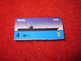 1988 The Hunt for Red October Board Game Piece: Nimitz Blue Ship Tab- NATO - $1.00