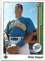 1991 Upper Deck BASEBALL-#787-Omar Vizquel-Mariners-Short Stop - $4.46