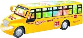 ToyZe Yellow School Bus Toy, with Flashing Lights and Sounds, Bump and G... - $12.47