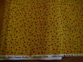 Tiny Flowers Calico Cotton for Quilting and sewing general Fabric by th... - $9.90