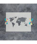 World map stencil thumbtall