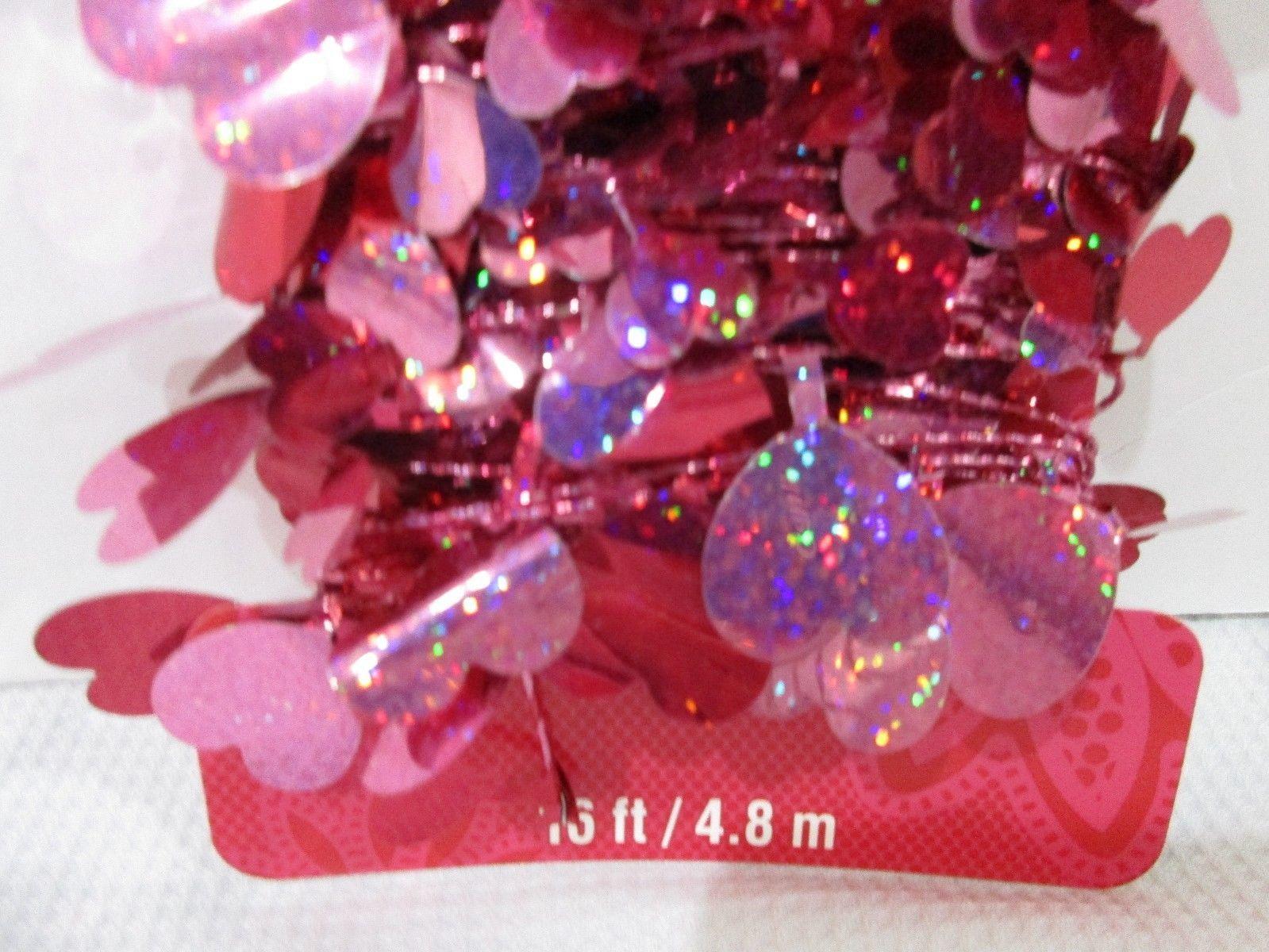 Valentines Day Foil Red Pink Heart Foil Garland Decoration Decor 16FT