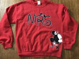 Disney MRS Wedding Sweatshirt Hooded Sweatshirt Minnie Mouse Medium Adult - $14.54