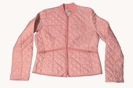 Ralph Lauren Polo Jeans Rosy Pink Diamond Lgtwght Quilted Jacket Wms L WORN? - $49.99