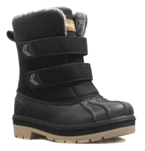 Cat & Jack Toddler Boys Black King Faux Leather Fur Winter Boots -10F 7 US NEW