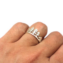 Silver Mountain Pine Tree Wolf Ring image 5