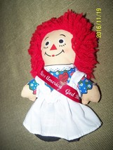 "applause raggedy ann doll johnny gruelle god bless america sash 6"" tall details - $19.80"