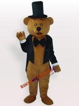 Brown teddy bear gentleman suit adult mascot costume  - $186.99