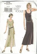 7713 Non Tagliati Vogue Cucito Motivo Misses Pull su Leggermente Svasato... - $4.88