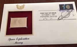 SPACE EXPLORATION : MERCURY First Day Gold Stamp Issue Oct. 1, 1991 - $6.50