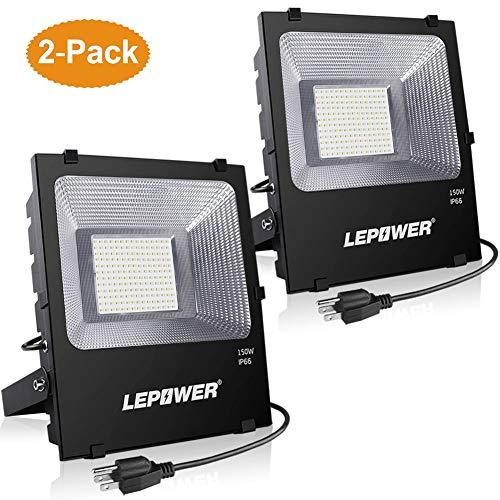 100w Craft Led Flood Lights Super Bright Work Lights: LEPOWER New Craft 2 Pack 150W LED Flood Light, 11000lm