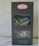 Trim A Home 75ct. Shingle Gutter Clips White Christmas Lights Decorations  - $5.93