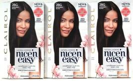 3 Clairol Nice'N Easy Color Care Formula 2BG Burgundy Black Permanent Hair Dyes - $27.99