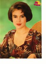 Alyssa Milano teen magazine pinup clipping green background