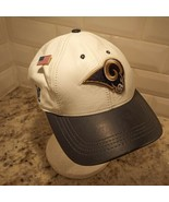 Vintage Los Angeles LA Rams Genuine Leather Cap Hat Stitched Logo Athletic - $32.73