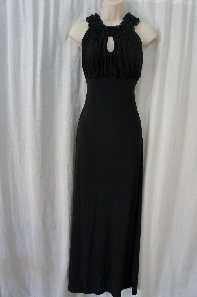 605008c51c9 ONYX Nite Dress Sz 6 Black Ruffle Jersey and 31 similar items. S l1600