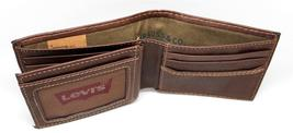 NEW LEVI'S MEN'S PREMIUM LEATHER CREDIT CARD ID WALLET BILLFOLD BROWN 31LV1344 image 9