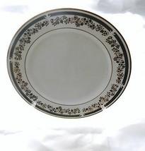 Viletta Fine China Dinner Plate Estate Pattern White Floral & Gold Edge ... - $10.88