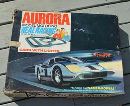 Vintage Aurora Model Motoring Lemans Slot Car Track With Mustang 1970 Parts Lot - $101.97