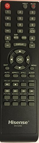 Hisense TV Remote EN-KA92 for H3 Series led TV Remote Control--Works with Hisens