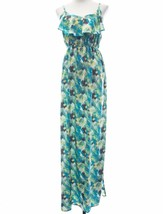 Sexy Soprano Multi Color Print Spaghetti Strap Ruffle Neck Maxi Dress Si... - $301,20 MXN