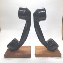 VTG Rotary Dial Phone Receiver Bookends Junior Achievement Telephone Boo... - $39.17