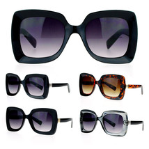 SA106 Retro Womens Thick Plastic Mod Groove Butterfly Sunglasses - $9.95