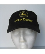 JOHN DEERE Cap Youth Size Adjustable Farm Tractors Hat Black Yellow - $19.34