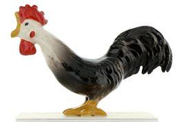 Hagen Renaker Miniature Chicken Leghorn Rooster Black Ceramic Figurine image 5