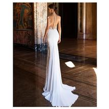Sexy Flesh On Lace Illusion Deluxe Backless Luxury Mermaid Trumpet Wedding Dress image 3