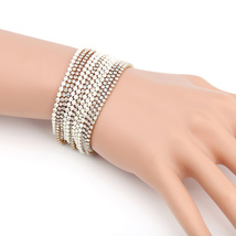 UE- Designer Gold Tone Bracelet With White Overlay & Swarovski Style Crystals - $19.99