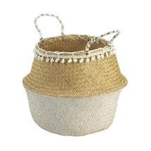 Seagrass Basket with White Tassels - $25.95