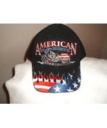 Biker's Black cap - with American Bike and Stars/Stripes on a new ballcap  - $21.00