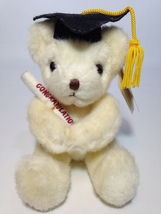 Russ Caress Soft Pets Cream White Teddy Bear Plush Graduation Congratula... - $18.95