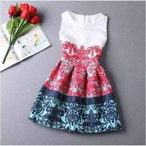 Casual Round Neck Floral Print Mini Dress - $21.98