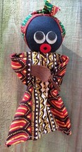 Vintage Handmade? African Ethnic Black Doll Plush Artsy Rag Cloth & Head... - $20.80