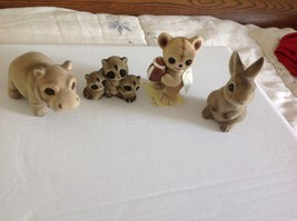 4 Vintage Josef Originals - Fuzzy Animal Figurine - Excellent Used condition - $28.98