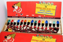 Vintage C-7 AMICO Christmas Lights with 15 Ceramic Bulbs IOB - $29.99