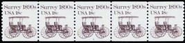 1907, Plate #4 In Strip of Five 18¢ Surrey Coil Cat $55.00  - Stuart Katz - $30.00