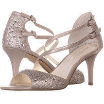 A35 Cremena Sparkle Strappy Dress Sandals 986, Silver, 10 US - $24.95