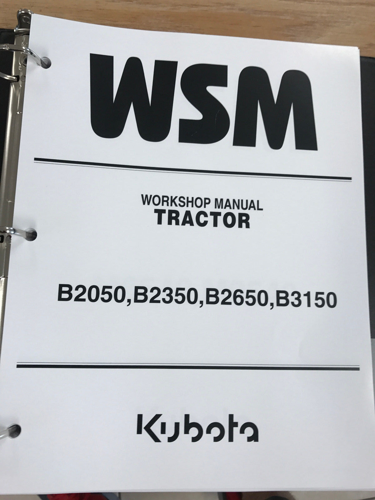 11. 11. Kubota B2050 B2350 B2650 B3150 Tractor WSM Service Workshop Manual  Binder. Free Shipping