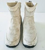 Merrell Tundra Waterproof Boot Dawn White Womens 9.5 Ivory Suede Winter - $37.05