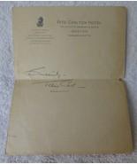Autographh JANE COWL on Boston Ritz Carlton Hotel Stationery Film Stage ... - $34.65