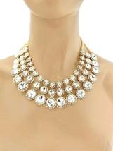 Classico Cleopatra Collana Orecchini Gioielli Set Clear Cristalli Strass Sposa - $29.33