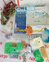 JEWELRY MAKING DIY BEAD BOARD, BEADS & BEADING MATERIAL See Photos (Bx13) image 4