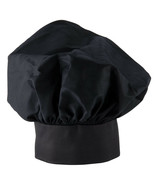 NEW  EASY WEAR CHEF HAT BLACK CLOTH ONE SIZE FIT ALL FREE SHIPPING USA - $5.93