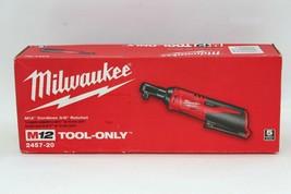 Milwaukee 2457-20 M12 12-Volt Lithium-Ion Cordless 3/8 in. Ratchet-Tool-... - $95.00